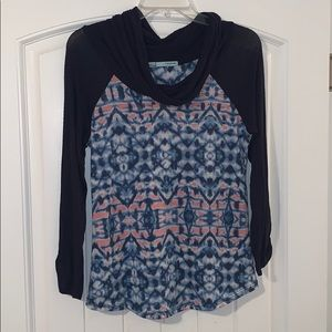 Maurices long sleeve cowl-neck shirt, size small